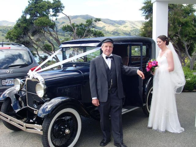 Akaroa vintage wedding car